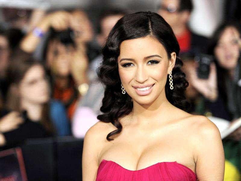 Christian Serratos arrives at the world premiere of The Twilight Saga: Breaking Dawn - Part 1. (AP Photo/Chris Pizzello)