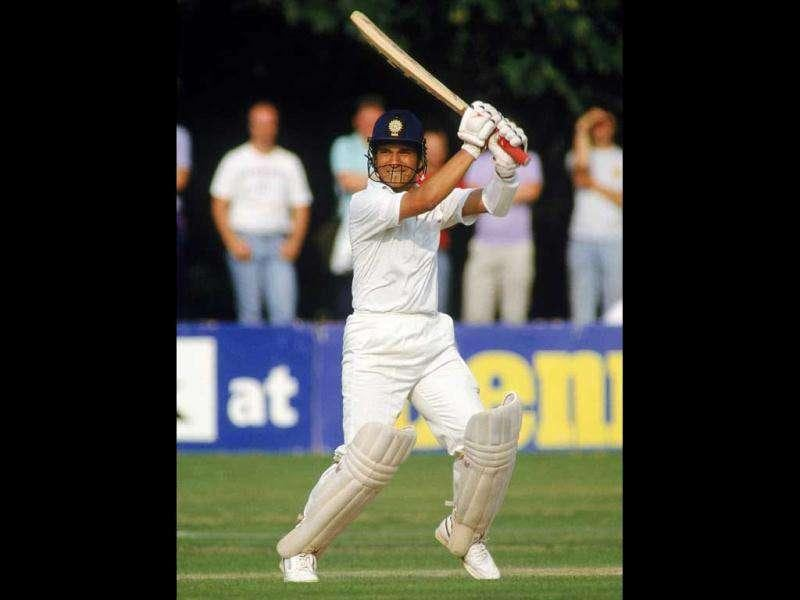 Sachin Tendulkar of India in action during India Tour of England.