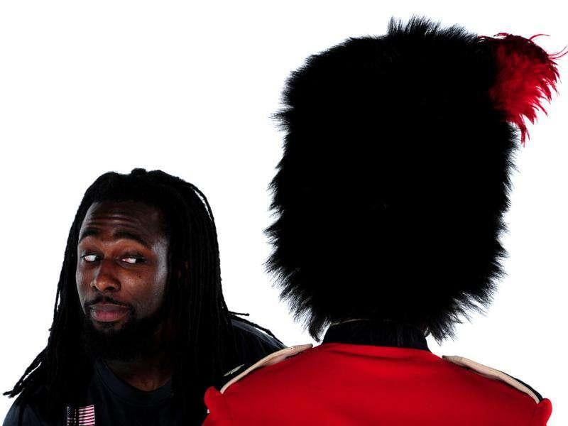 Weightlifter Kendrick Farris poses for a portrait during the USOC Portrait Shoot at Smashbox West Hollywood in California.