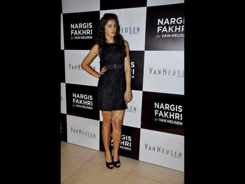 Nargis is the brand ambassador for Van Heusen.