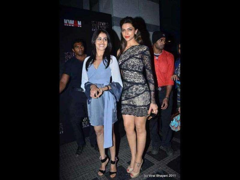 Genelia D'souza, too, was present at the event.