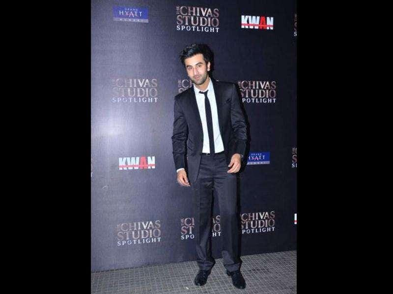 Ranbir Kapoor seems to be enjoying himself.