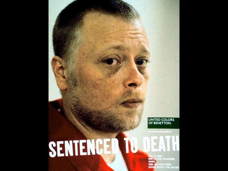American death row prisoner Bobby Lee Harris, in an undated picture taken by Benetton's artistic director Oliviero Toscani for the Italian clothier group's ad campaign titled