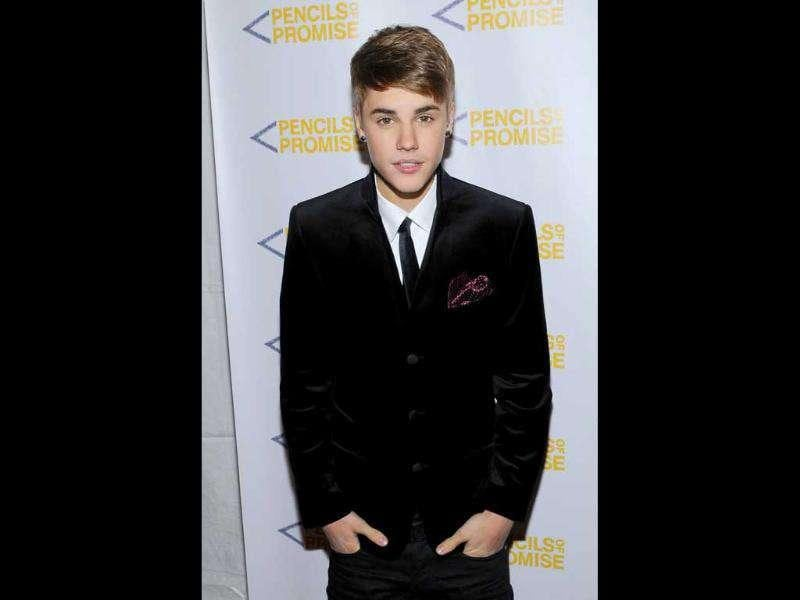 Singer Justin Bieber attends the Pencils Of Promise inaugural gala at Espace in New York.