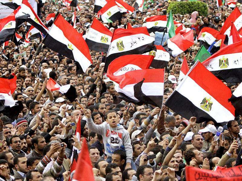 Thousands of Egyptians rally in Cairo's Tahrir square, Egypt in a protest against what they say are attempts by the country's military rulers to reinforce their powers.