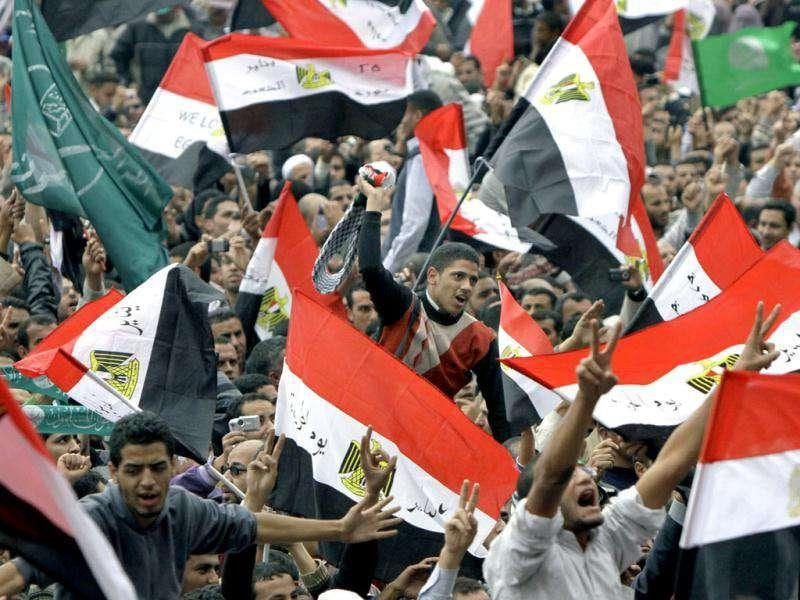 Thousands of Egyptians rally in Cairo's Tahrir square, Egypt