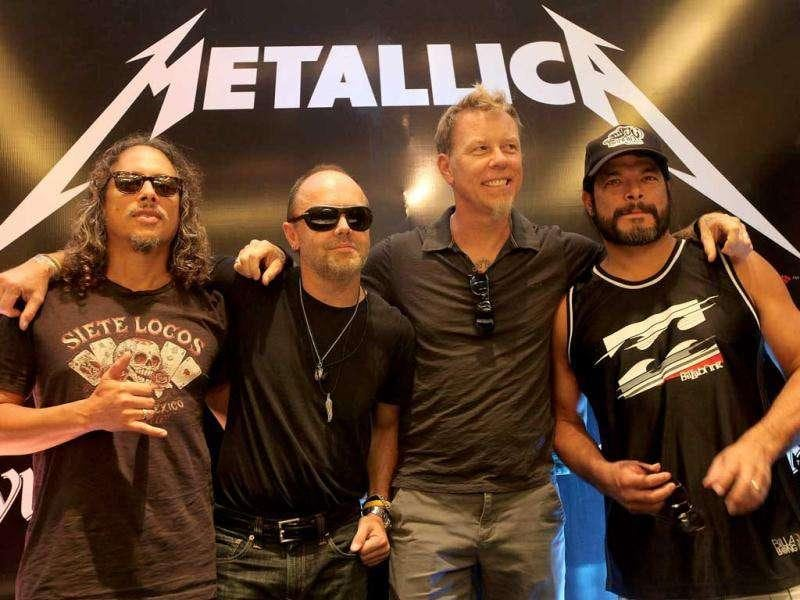 Metallica still want to visit India after the controversy over security issues just before their performance in Delhi. Photo by Andrew Caballero-Reynolds, Getty Images Entertainment.
