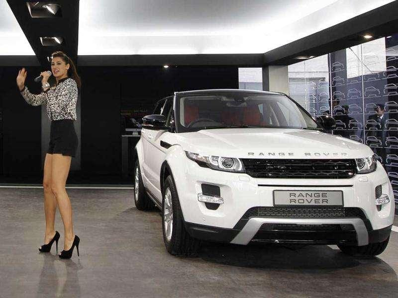 Nargis Fakhri introduces the Range Rover Evoque from the Tata Motors-owned Land Rover.