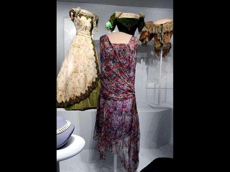 The dresses of former First Ladies are displayed at the Smithsonian's National Museum of American History in Washington, DC.
