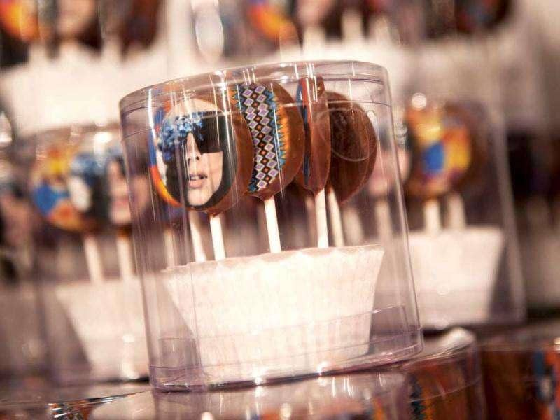 You can suck on the Gaga candies. (AFP)