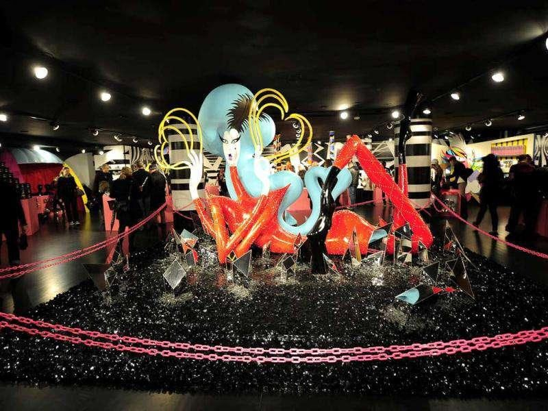 A sculpture that reminds one tremendously of Gaga up on display at Barneys. (AFP)
