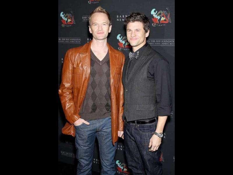 HIMYM star Neil Patrick Harris and David Burtka were present at the event. (AP)