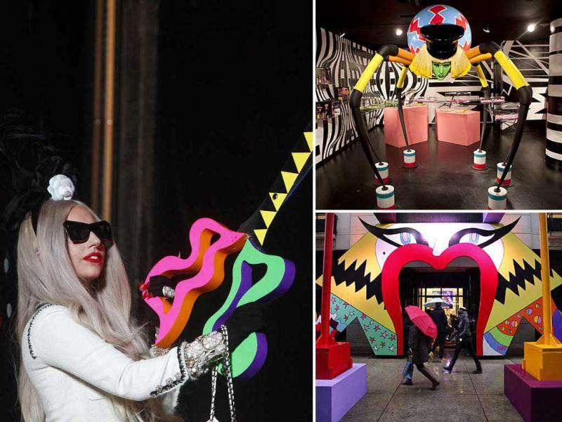 Lady Gaga is the new Santa Claus! Inspired from the concept of Santa's workshop, Gaga has collaborated with a renowned store which will showcase items as bizarre as the pop singer herself. From Gaga candies and cookies to shoes and toys, it's all here.