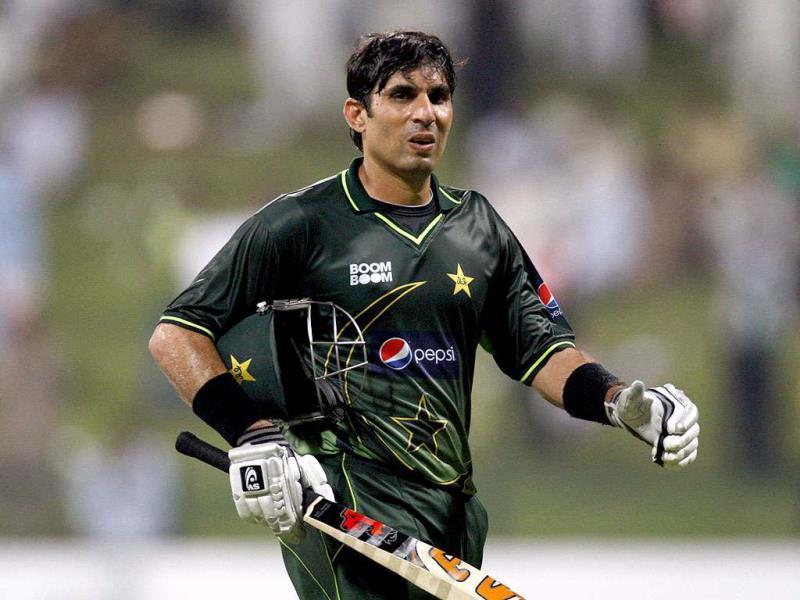 Pakistan's test captain Misbah-ul Haq has recently broken the dubious record of becoming the highest run scorer without scoring a single century. (Reuters Photo)