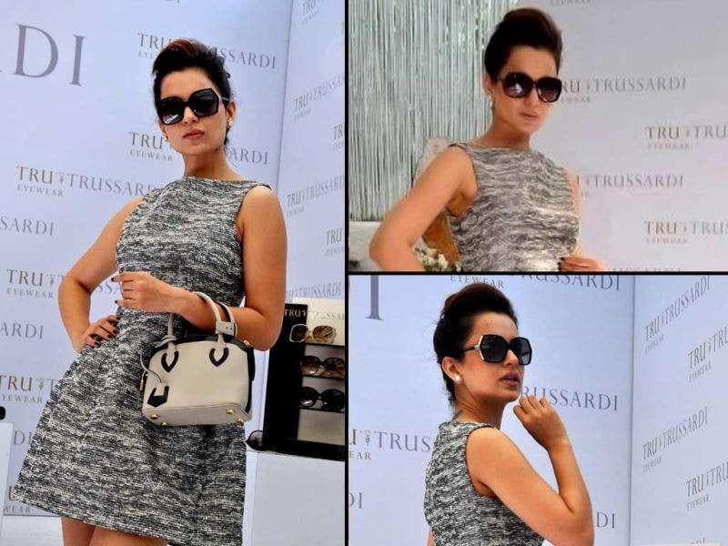While Kangna Ranaut may have committed many fashion faux pas in the past, this time the lady seems to have got it right. Check out Kangna Ranaut and other style icons at a fashion eyewear launch.