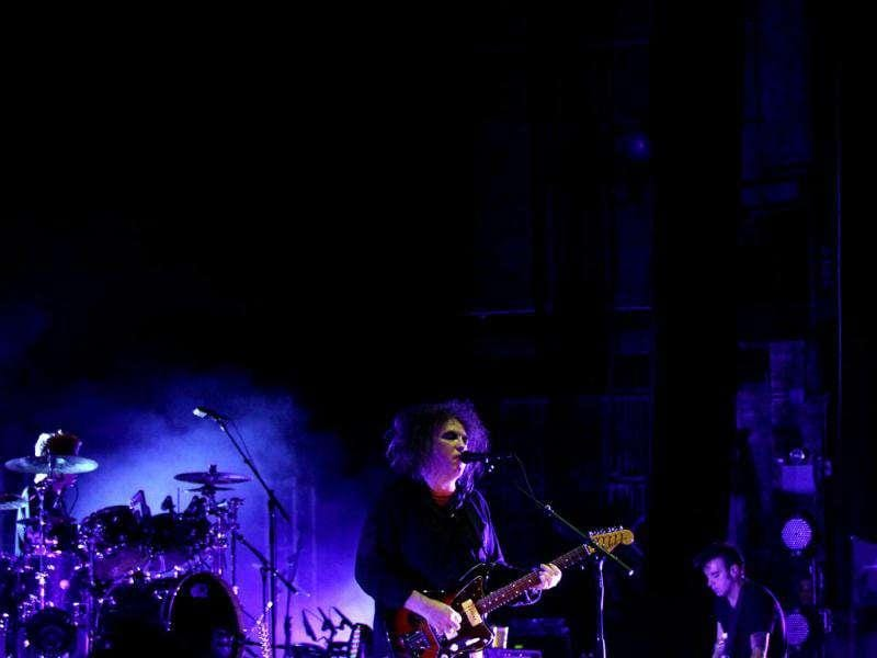 Robert Smith of The Cure performs on stage at The Beacon Theatre in New York City.