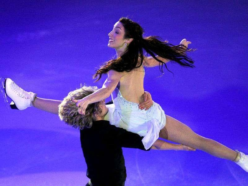 Meryl Davis and Charlie White of the United States perform during a Gala exhibition at the figure skating Grand Prix in Moscow.