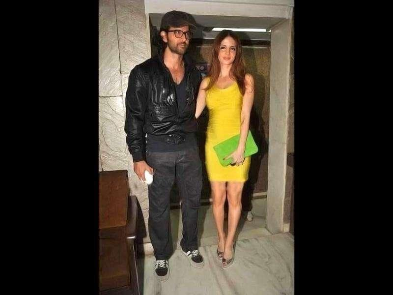 Hrithik Roshan with wife Suzanne, wished Arjun Rampal on his 39th birthday.