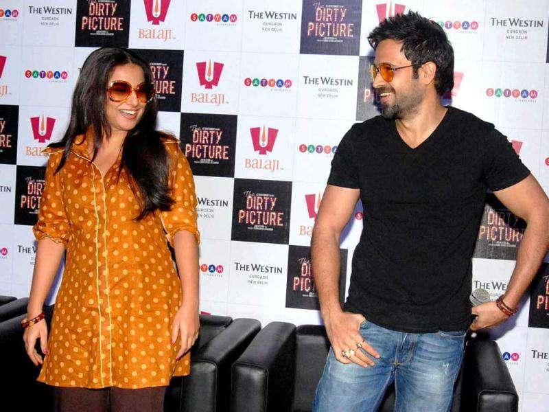 Emraan Hashmi and Vidya Balan promote their upcoming movie The Dirty Picture in New Delhi. (Photo: UNI)