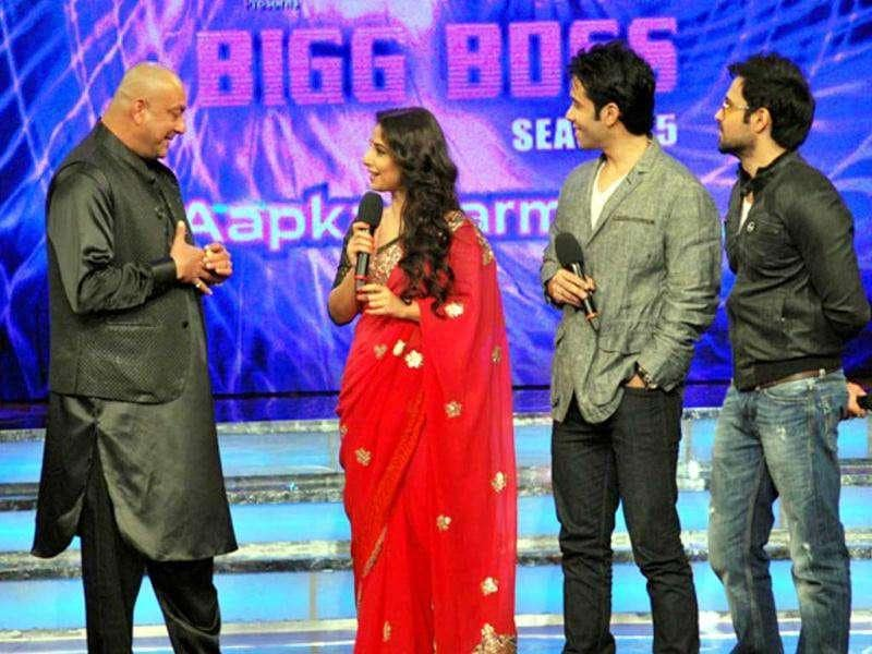Star cast of The Dirty Picture on Bigg Boss. (Photo: UNI)