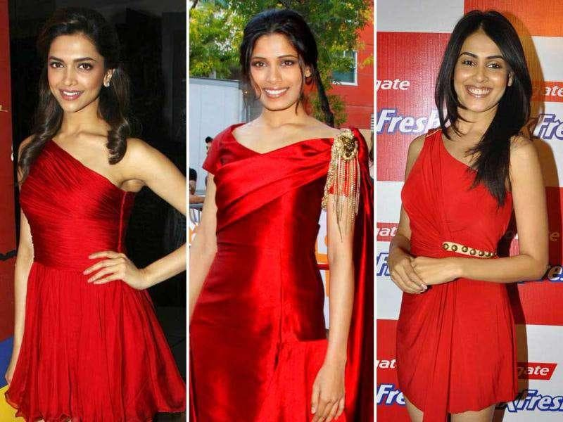 As scarlet turns the flavour of the season, we catch the Bollywood divas as they paint the town red. Check out the ladies as they set the scene ablaze with their choice of ensembles.