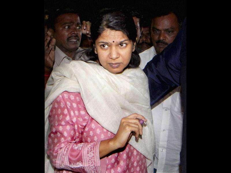 DMK MP Kanimozhi arrives at her residence after her release from Tihar Jail in New Delhi.