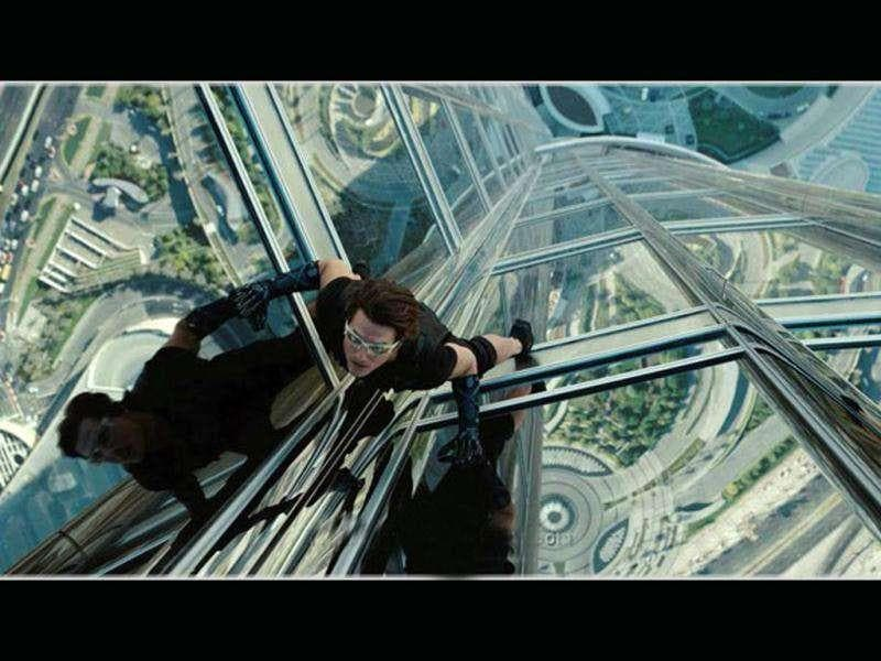 Tom Cruise in a deadly stunt from the movie.