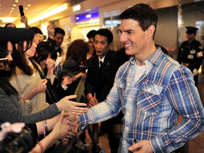 The actor was seen shaking hands with several fans. (AFP)