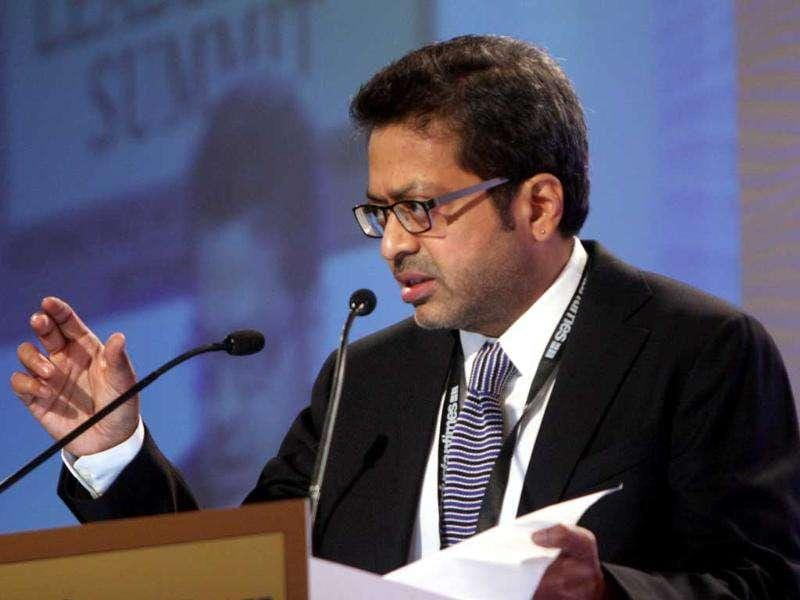 Sanjoy Narayan, editor-in-chief of Hindustan Times, at HT Leadership Summit 2011 in New Delhi. HT Photo / Subhendu Ghosh