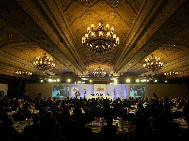 A general view of HT Leadership Summit 2011 at The Taj Palace Hotel in New Delhi. HT Photo/Sanjeev Verma