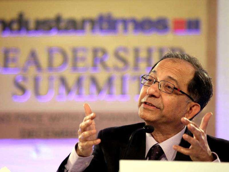 Dr Kaushik Basu speaks at the HT Leadership Summit 2011 in The Taj Palace Hotel, New Delhi. HT Photo/Raj K Raj