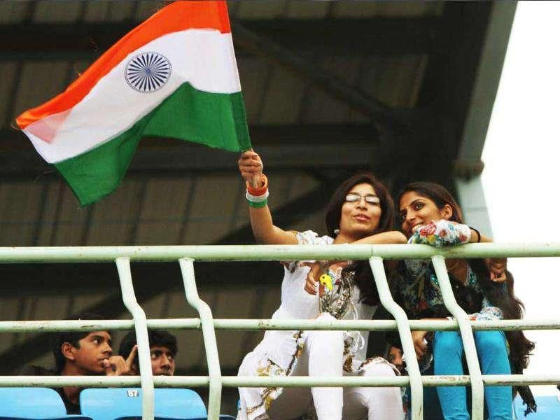 Cricket lovers of Andhra Pradesh during the 2nd ODI between India and West Indies at Dr YS Rajasekhara Reddy Cricket Stadium.