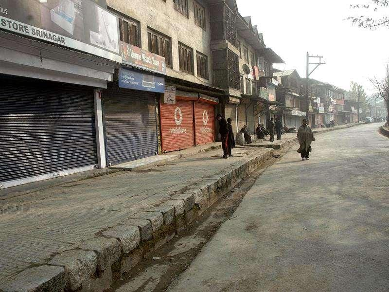 Shops and business establishments remain closed in downtown and Sher-e-Khas (SeK) in Srinagar following a strike against the alleged police atrocities.