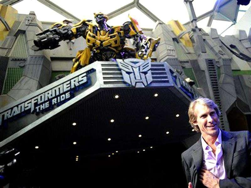 Hollywood film director Michael Bay smiles at the premier launch for the Transformers - The Ride at Universal Studios Singapore, part of Resorts World Sentosa. The ride officially opens to the public on Dec 3, with Universal Studios Hollywood expected to launch the same ride in early 2012.