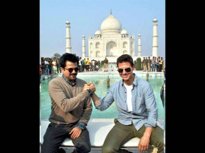 Friends forever! Tom Cruise and Anil Kapoor will be seen together in MI4. (PTI)