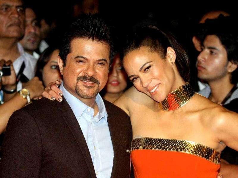 Anil Kapoor with co-star Paula Patton. AFP photo