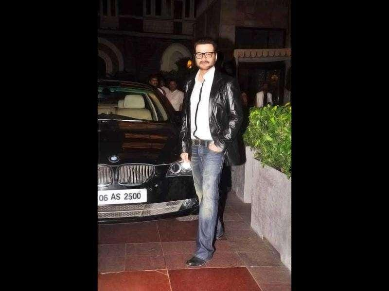 Anil Kapoor's brother Sanjay Kapoor seems to be enjoying himself at the party. (Photo Courtesy: Bubbles, Pinkvilla)