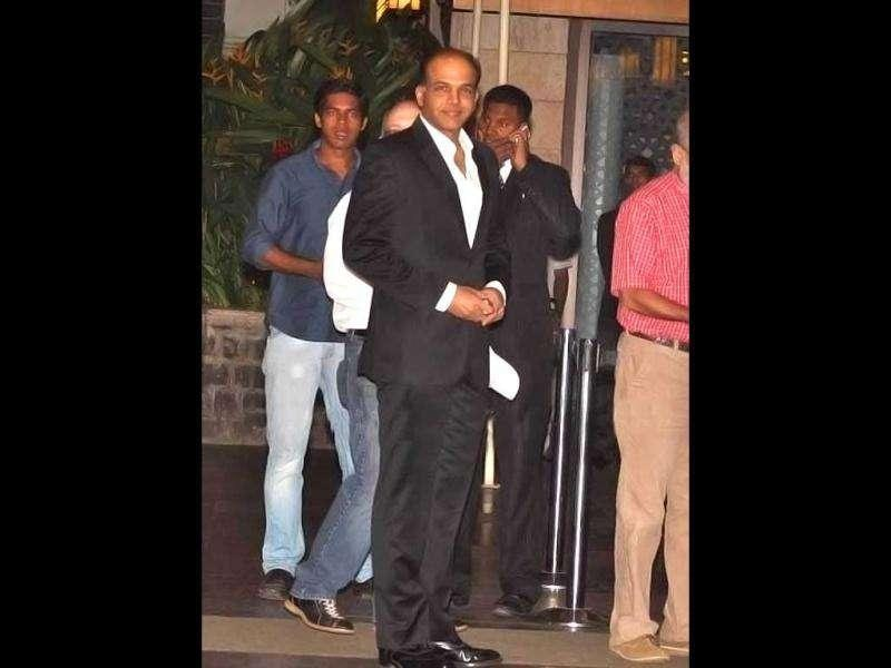 Director Ashutosh Gowariker was spotted at the venue. (Photo Courtesy: Bubbles, Pinkvilla)