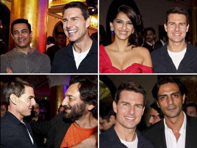 The who's who of Bollywood including Aamir Khan, Farhan Akhtar, Preity Zinta and Sonam Kapoor were present at the bash hosted by Anil Kapoor in honour of Tom Cruise's arrival in India for his upcoming film Mission Impossible: Ghost Protocol. Take a look.