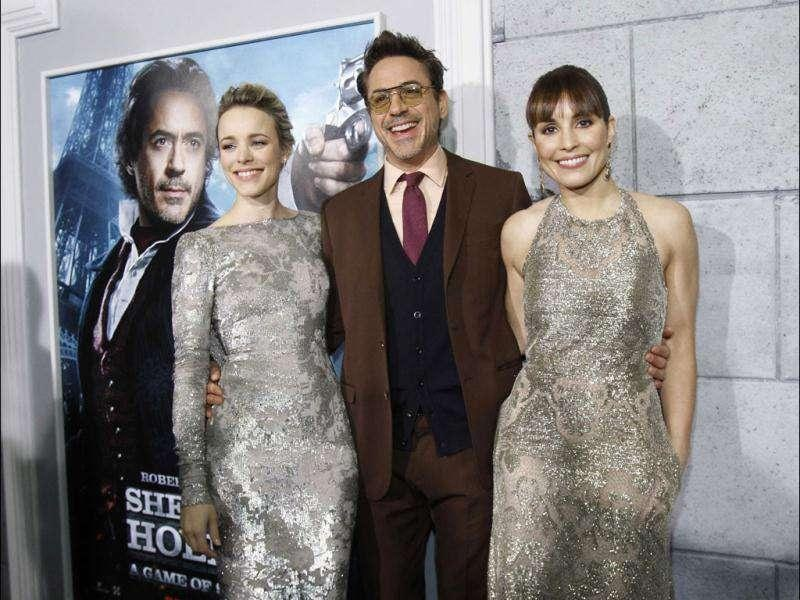 Rachel McAdams, Robert Downey Jr. and Noomi Rapace cheer the event.
