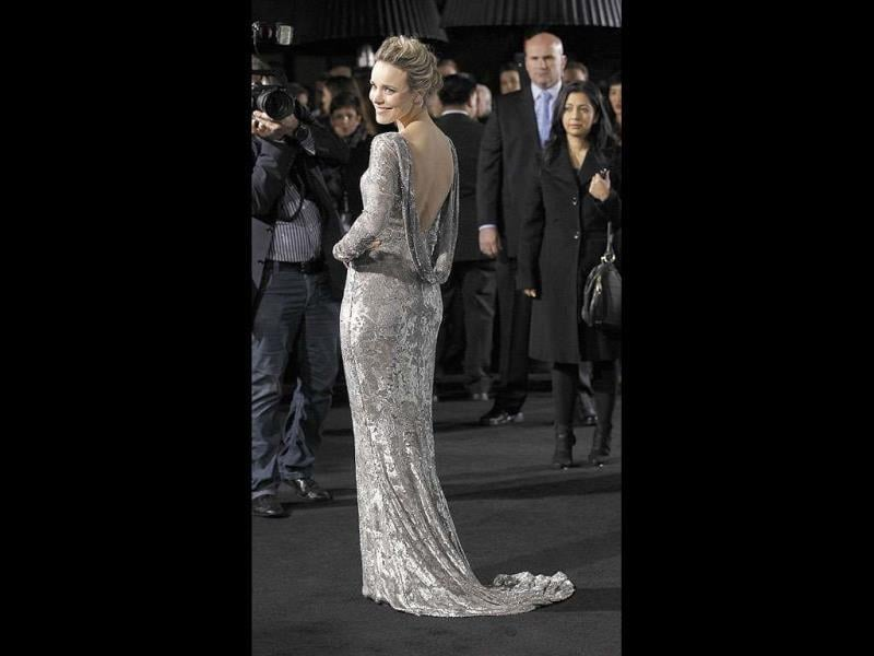 Rachel McAdams and Noomi Rapace flashed sparkling silver outfits recently at the premiere of Sherlock Holmes: A Game of Shadows. Looks like silver is the colour of the season. Take a look at the stars.