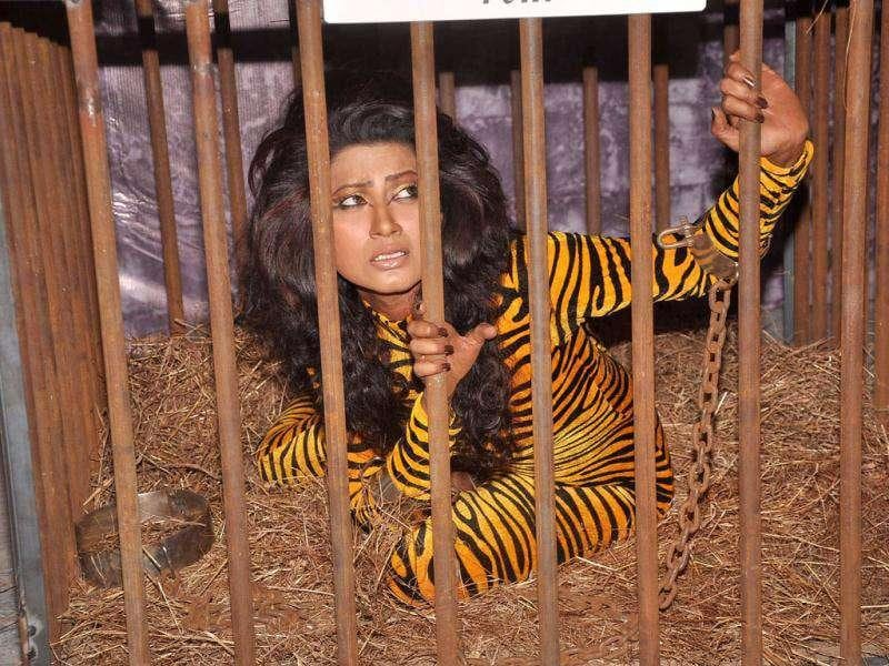 Nigar Khan definitely doesn't like to be confined. (IANS)