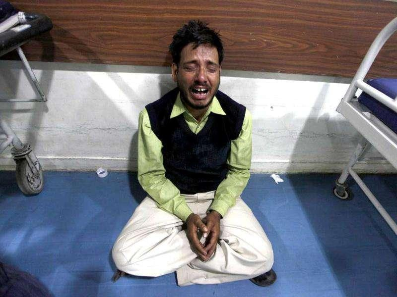 A man cries after his relative died in a hospital fire in Kolkata. Reuters/Rupak De Chowdhuri