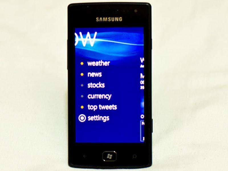 The Now application shows updates like weather, news, stock, exchange rates and top tweets.
