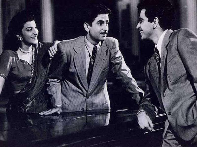 Andaz (1949), directed by Mehboob Khan, starred Dilip Kumar, Nargis and Raj Kapoor in a love triangle.