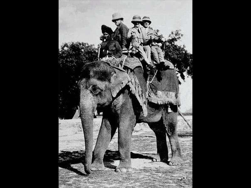 The hunt for a suitable site: New Delhi architect Edwin Lutyens looked for a suitable site for the new Imperial Capital atop an elephant. The rocky and thickly vegetated area near Raisina Hills made it difficult to use a motor vehicle. Lutyens hated riding the elephant, and said this to his wife in letters that spoke of how tiring mounting the elephant was, along with sketches of how he did it. Photos courtesy: New Delhi: Making of A Capital, Roli Books
