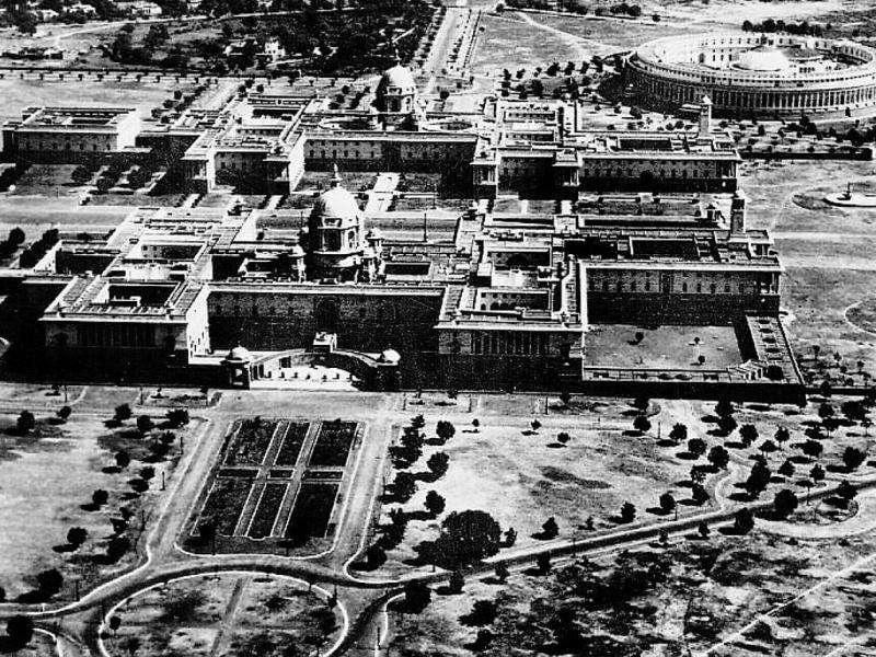 Bird's eye view of the city: It was only by 1939 that New Delhi could fully emerge as a city. It now comprises Connaught place, Parliament House, the Viceroy House (now Rashtrapati Bhavan), the Central Secretariat, the Imperial Hotel, along with elite residential colonies. Meanwhile, Delhi's population rose by nearly 40% in a decade post 1931. GETTY IMAGES