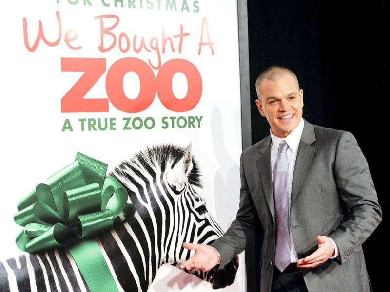 Actor Matt Damon attends the premiere of We Bought A Zoo at the Ziegfeld Theatre in New York. AP Photo