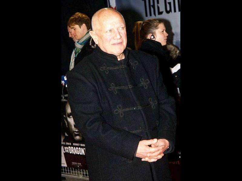 British actor Steven Berkoff poses at the red carpet. (AFP PHOTO / Max Nash)