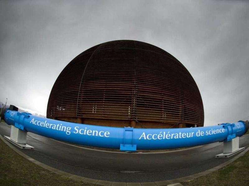 The Globe of Science and Innovation is seen at the entrance of the European Organization for Nuclear Research (CERN) in Geneva.